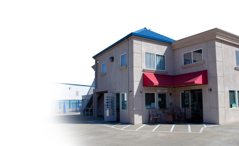 Exterior of front office for American River Self Storage