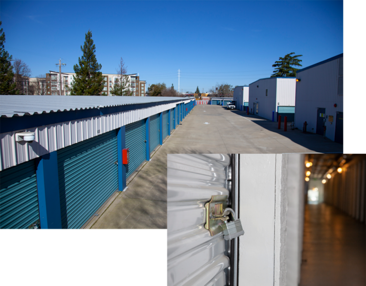 View of storage containers